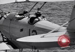 Image of U.S. Navy student pilot completes first solo in N3N seaplane Pensacola Florida USA, 1938, second 12 stock footage video 65675028329