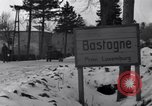 Image of wrecked vehicles Bastogne Belgium, 1945, second 10 stock footage video 65675028441