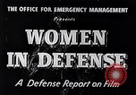 Image of American women United States USA, 1941, second 2 stock footage video 65675028444
