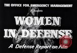 Image of American women United States USA, 1941, second 12 stock footage video 65675028444