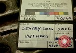 Image of sentry dogs Tan Son Nhut Air Force Base Vietnam, 1965, second 2 stock footage video 65675028497