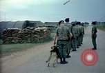 Image of sentry dogs Tan Son Nhut Air Force Base Vietnam, 1965, second 8 stock footage video 65675028497