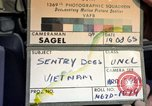 Image of sentry dogs Tan Son Nhut Air Force Base Vietnam, 1965, second 1 stock footage video 65675028508