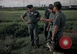Image of sentry dogs Tan Son Nhut Air Force Base Vietnam, 1965, second 1 stock footage video 65675028511