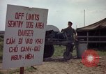 Image of sentry dogs Tan Son Nhut Air Force Base Vietnam, 1965, second 10 stock footage video 65675028512