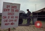 Image of sentry dogs Tan Son Nhut Air Force Base Vietnam, 1965, second 11 stock footage video 65675028512