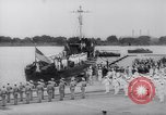 Image of President Roosevelt presents a Patrol Craft (USS P-622) to Greece Washington DC USA, 1944, second 10 stock footage video 65675028525
