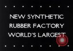 Image of rubber factory United States USA, 1943, second 3 stock footage video 65675028526