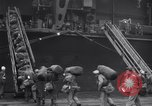 Image of USS Enterprise CV-6 returns from World War 2 New York City USA, 1945, second 10 stock footage video 65675028532