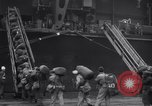 Image of USS Enterprise CV-6 returns from World War 2 New York City USA, 1945, second 11 stock footage video 65675028532