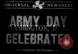 Image of Army Day celebration Washington DC USA, 1941, second 7 stock footage video 65675028536