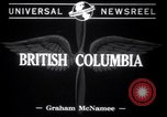 Image of snow covered area British Columbia, 1941, second 2 stock footage video 65675028539