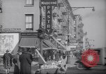 Image of Street scene in Little Italy New York City USA, 1941, second 4 stock footage video 65675028562