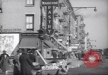 Image of Street scene in Little Italy New York City USA, 1941, second 5 stock footage video 65675028562