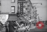Image of Street scene in Little Italy New York City USA, 1941, second 6 stock footage video 65675028562