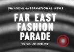 Image of fashion parade Malaya, 1958, second 1 stock footage video 65675028588