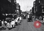 Image of Busy street in a city India, 1953, second 10 stock footage video 65675028598