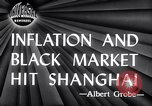 Image of black marketing Shanghai China, 1946, second 3 stock footage video 65675028621