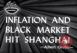 Image of black marketing Shanghai China, 1946, second 7 stock footage video 65675028621