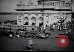Image of Approach to the Old Howrah  bridge  Calcutta India, 1929, second 7 stock footage video 65675028626
