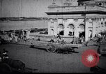Image of Approach to the Old Howrah  bridge  Calcutta India, 1929, second 10 stock footage video 65675028626