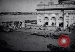 Image of Approach to the Old Howrah  bridge  Calcutta India, 1929, second 11 stock footage video 65675028626