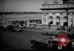 Image of Approach to the Old Howrah  bridge  Calcutta India, 1929, second 12 stock footage video 65675028626