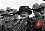 Image of Famous Woman with US Army soldiers United States USA, 1920, second 1 stock footage video 65675028692