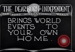 Image of Advertisement for Dearborn Independent Dearborn Michigan USA, 1920, second 5 stock footage video 65675028697