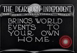Image of Advertisement for Dearborn Independent Dearborn Michigan USA, 1920, second 7 stock footage video 65675028697
