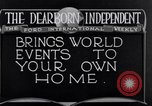 Image of Advertisement for Dearborn Independent Dearborn Michigan USA, 1920, second 8 stock footage video 65675028697