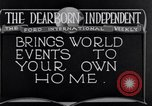 Image of Advertisement for Dearborn Independent Dearborn Michigan USA, 1920, second 11 stock footage video 65675028697
