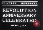 Image of Mexican athletes on Mexican Revolution Anniversary Mexico, 1934, second 3 stock footage video 65675028709