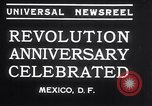 Image of Mexican athletes on Mexican Revolution Anniversary Mexico, 1934, second 5 stock footage video 65675028709
