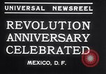 Image of Mexican athletes on Mexican Revolution Anniversary Mexico, 1934, second 11 stock footage video 65675028709
