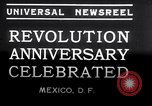 Image of Mexican athletes on Mexican Revolution Anniversary Mexico, 1934, second 12 stock footage video 65675028709