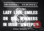 Image of Irish sweepstakes winners United States USA, 1939, second 1 stock footage video 65675028719