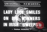 Image of Irish sweepstakes winners United States USA, 1939, second 4 stock footage video 65675028719