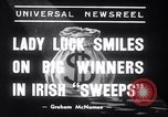 Image of Irish sweepstakes winners United States USA, 1939, second 7 stock footage video 65675028719