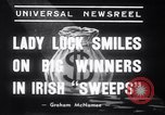 Image of Irish sweepstakes winners United States USA, 1939, second 8 stock footage video 65675028719
