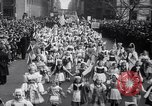Image of New Yorkers at Anti Nazi March Manhattan New York City USA, 1939, second 6 stock footage video 65675028722