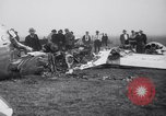 Image of Transport plane debris at crash site Oklahoma City Oklahoma USA, 1939, second 10 stock footage video 65675028723