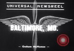Image of Boeing-314 Yankee Clipper Baltimore Maryland USA, 1939, second 4 stock footage video 65675028725