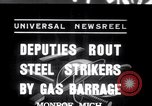 Image of Strikers from steel plants Monroe Michigan USA, 1937, second 1 stock footage video 65675028726