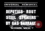 Image of Strikers from steel plants Monroe Michigan USA, 1937, second 5 stock footage video 65675028726