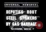 Image of Strikers from steel plants Monroe Michigan USA, 1937, second 7 stock footage video 65675028726