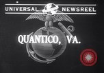 Image of Models with US Marines Quantico Virginia USA, 1941, second 2 stock footage video 65675028731