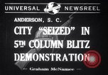 Image of Blitz Demonstrations Anderson South Carolina USA, 1941, second 1 stock footage video 65675028738