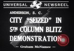 Image of Blitz Demonstrations Anderson South Carolina USA, 1941, second 5 stock footage video 65675028738