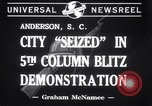 Image of Blitz Demonstrations Anderson South Carolina USA, 1941, second 7 stock footage video 65675028738